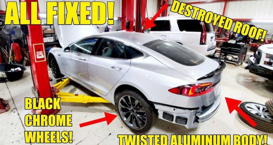 See The Work It Takes To Repair Tesla's Aluminum Body ...